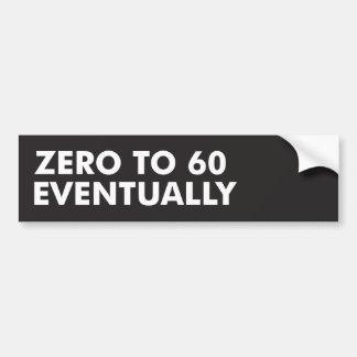 Autocollant De Voiture Zéro à 60 par la suite