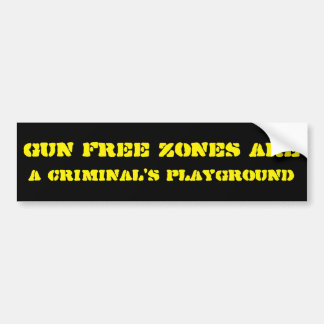 Autocollant De Voiture Zones franches d'arme à feu…