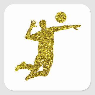 Autocollant de volleyball d'or
