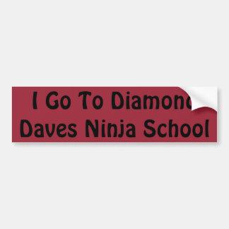Autocollant d'école de Daves Ninja de diamant
