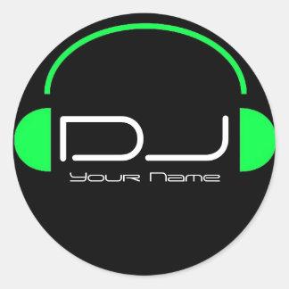 Autocollant d'écouteur du DJ