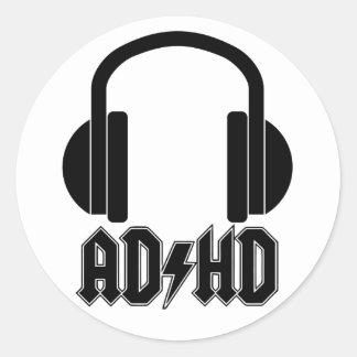 Autocollant d'écouteurs de TDAH (parodie d'ACDC)
