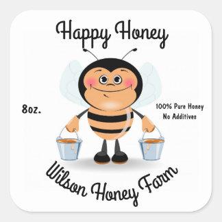 Autocollant d'étiquette de pot d'affaires de miel