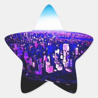 Autocollant d'étoile de Manhattan New York City