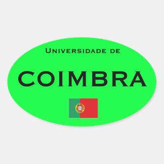Autocollant d'Euro-style d'université de Coimbra