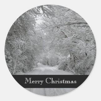 Autocollant d'hiver de Joyeux Noël