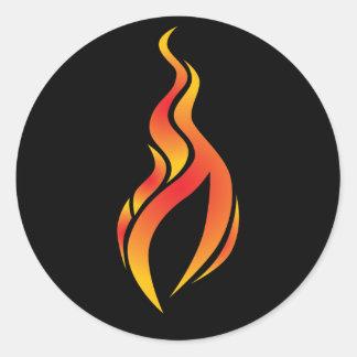 Autocollant d'icône de flamme