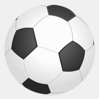 Autocollant d'illustration du football de ballon