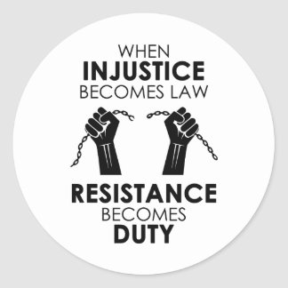 Autocollant d'injustice