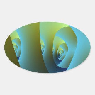 Autocollant d'ovale de labyrinthe de jade
