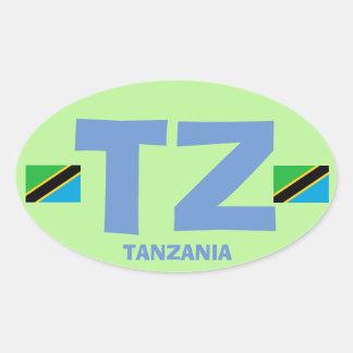 Autocollant d'ovale d'Euro-style de la Tanzanie TZ