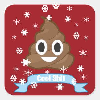 Autocollant drôle de Noël d'Emoji de dunette