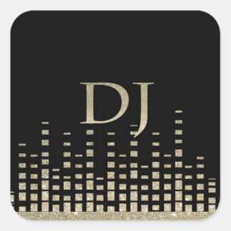 Autocollant du DJ de scintillement