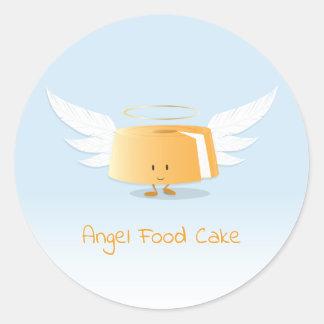 Autocollant du gâteau de nourriture d'ange  