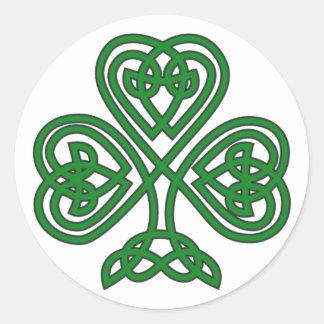 Autocollant du jour de St Patrick irlandais