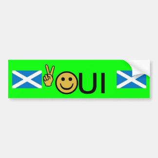 Autocollant écossais souriant de l'indépendance de