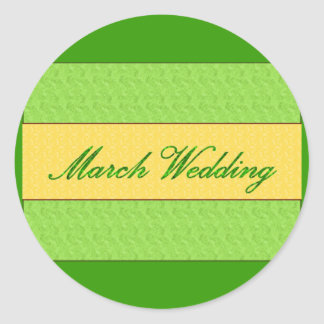"""Autocollant élégant """"de mariage de mars"""""""