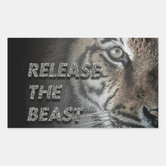 """Autocollant en gros plan """"libération de tigre la"""