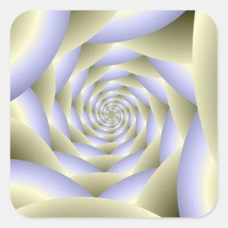 Autocollant en spirale de carré de tunnel