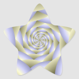 Autocollant en spirale d'étoile de tunnel