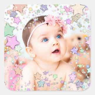 Autocollant étoilé de photo de bébé