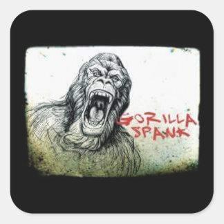 Autocollant fâché de gorille de fessée de gorille