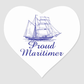 Autocollant fier de bateau de coeur de Maritimer