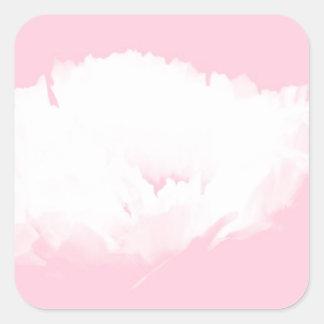 Autocollant floral du motif S de pivoine blanche