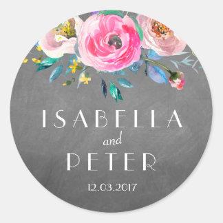 Autocollant floral rustique de mariage de tableau