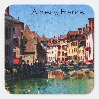 Autocollant français de carré de paysage