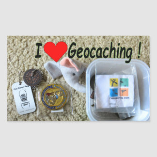 Autocollant geocaching d'amour