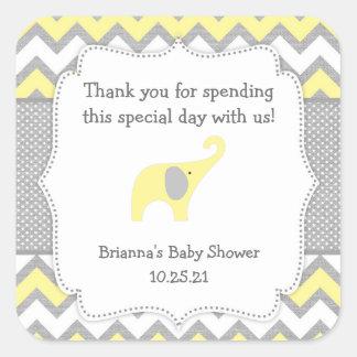 Autocollant jaune rustique de faveur de baby