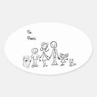Autocollant - ma famille 6