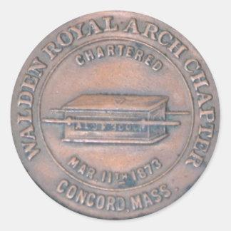 Autocollant maçonnique de penny de voûte royale