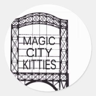 Autocollant magique de minous de ville