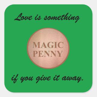 Autocollant magique de penny