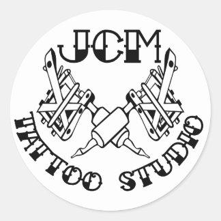 Autocollant marqué par studio de tatouage de JCM