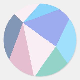 Autocollant moderne de triangle de couleur en