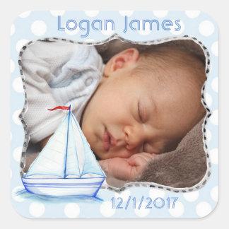 Autocollant nautique de photo de bébé