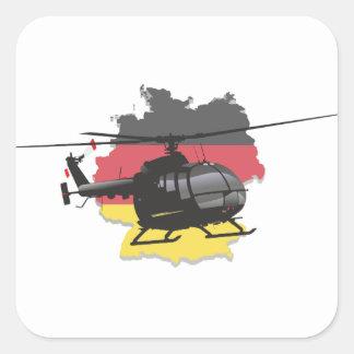 Autocollant noir allemand d'hélicoptère