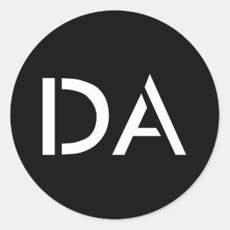 Autocollant noir classique du DA
