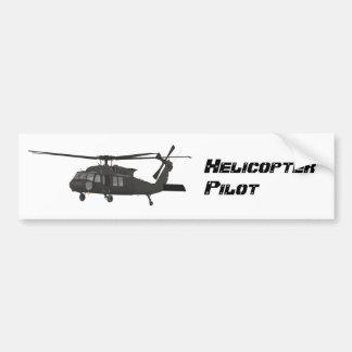Autocollant noir d'hélicoptère