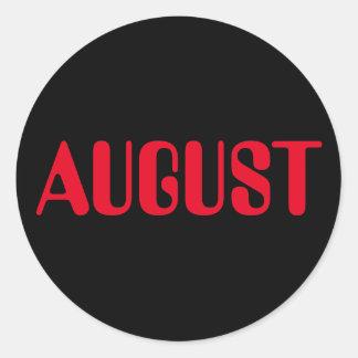 Autocollant noir rouge d'août Amelia par Janz