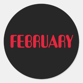 Autocollant noir rouge de février Amelia par Janz