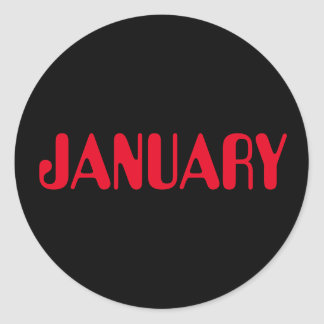 Autocollant noir rouge de janvier Amelia par Janz