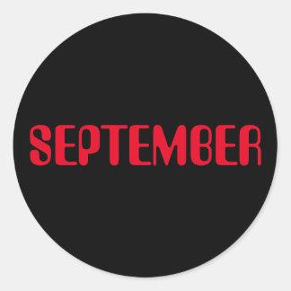 Autocollant noir rouge de septembre Amelia par