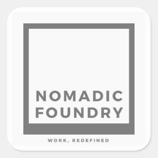 Autocollant nomade de logo de fonderie