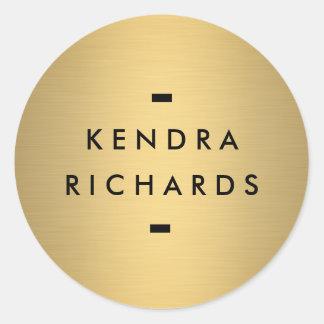 Autocollant nommé de logo d'or