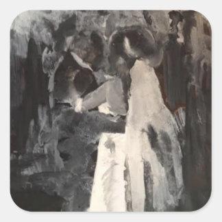 Autocollant nuptiale de peinture de danse