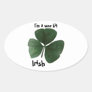 Autocollant ovale irlandais